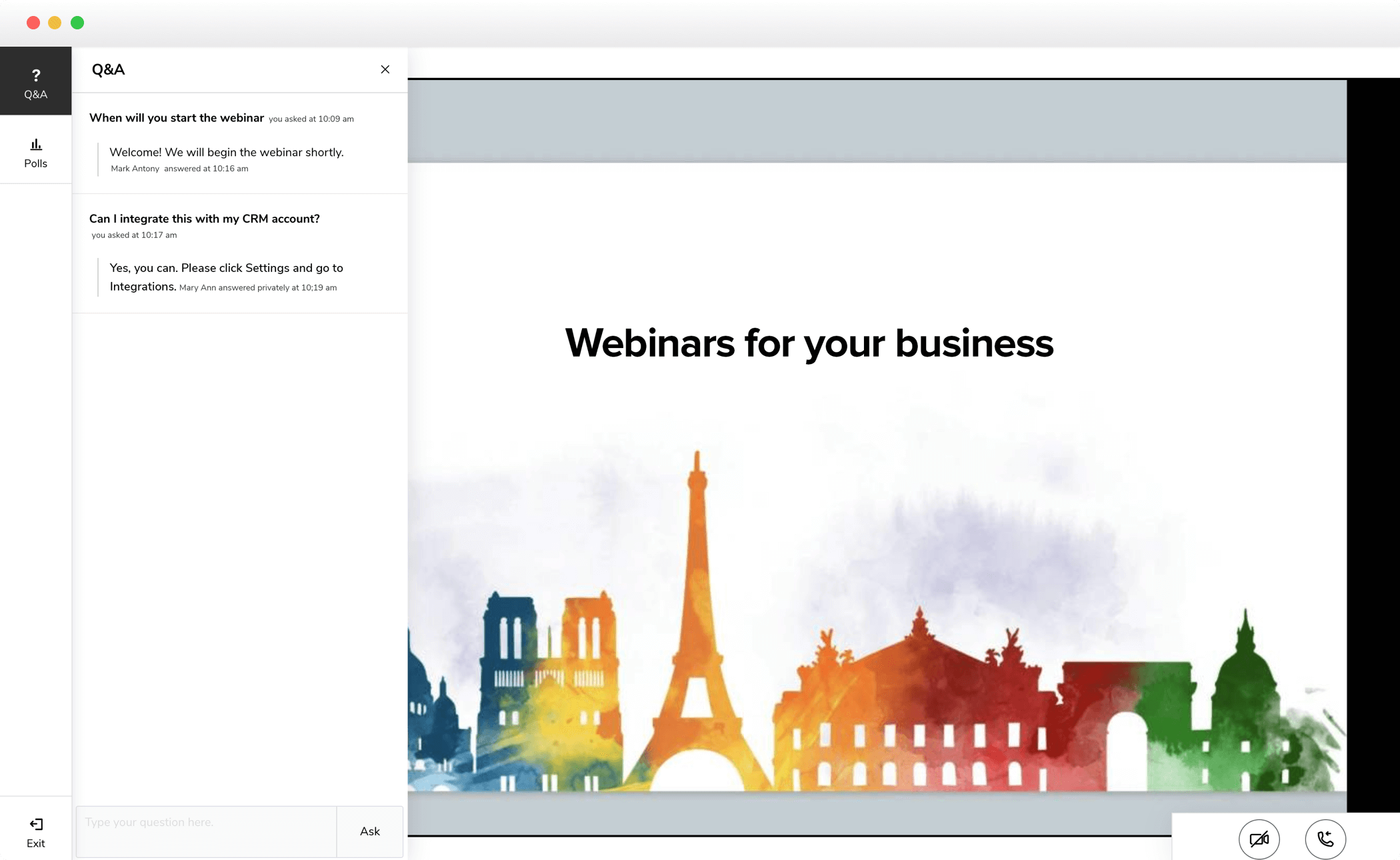 Free Web conferencing, Online Meeting & Webinar Solution   Zoho Meeting