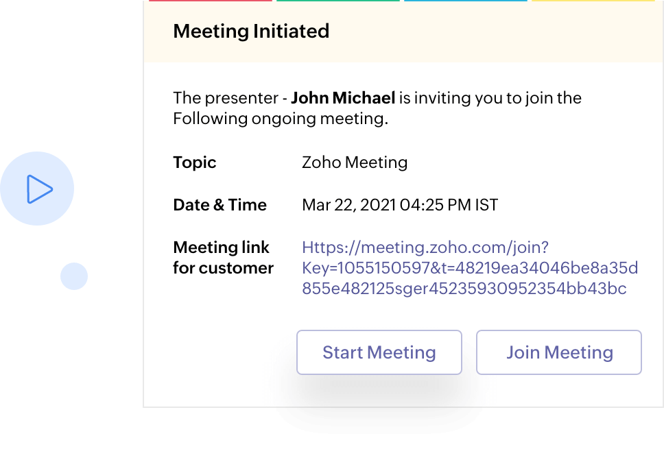 Initiate Meetings