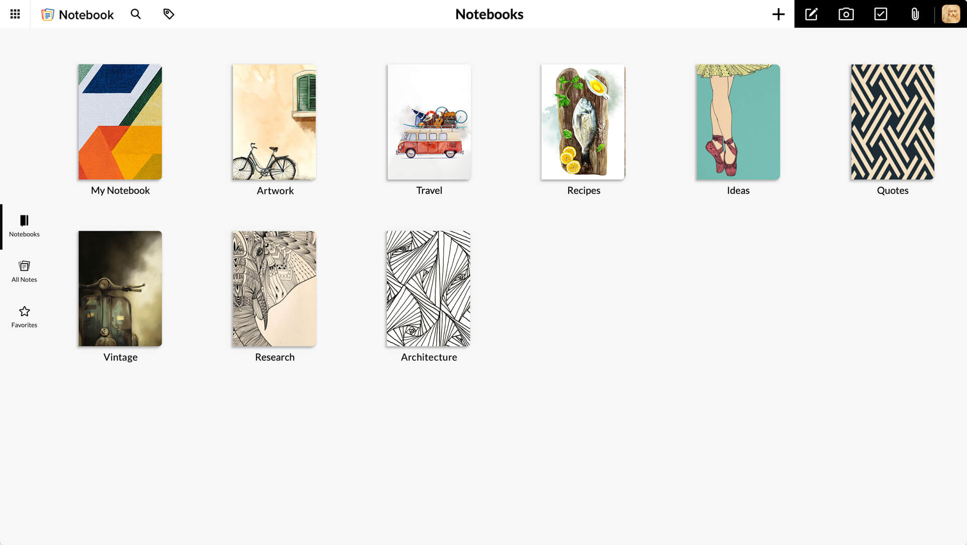 Note Taking App - Add Text, Images, Audio, Checklist | Zoho
