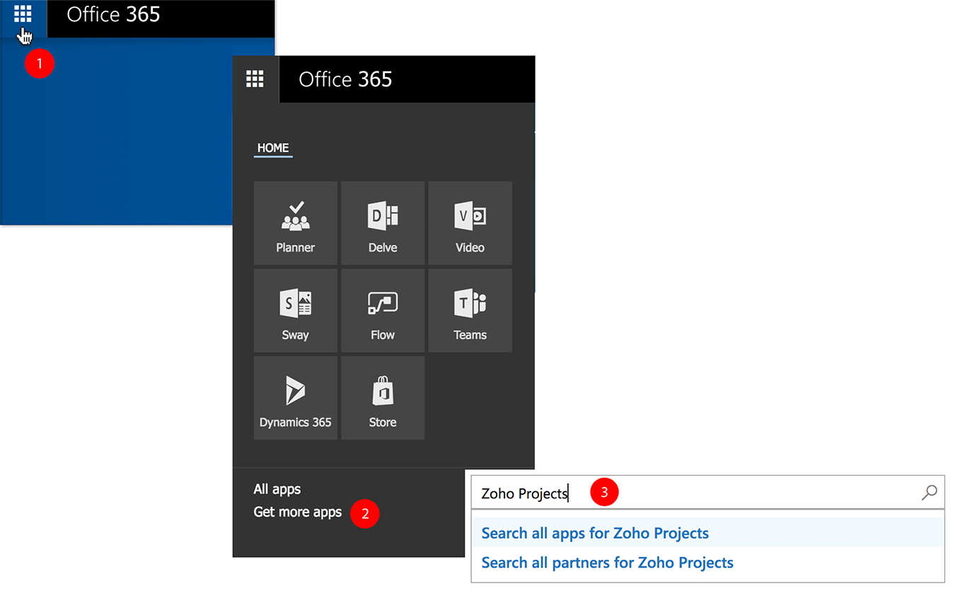 Office 365 Integration | Zoho Projects | Online Help