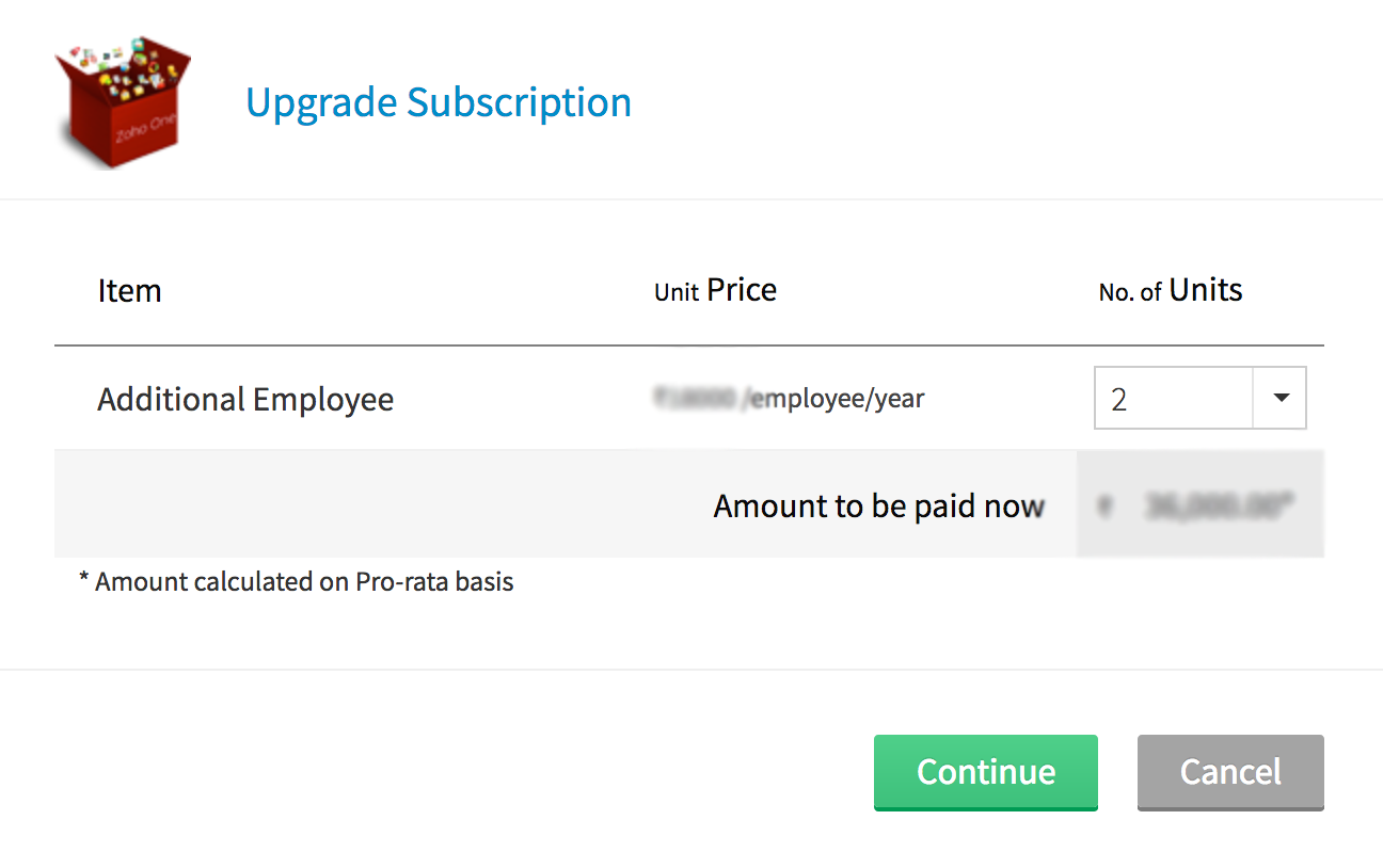 Subscription Management | Admin Guide - Zoho One