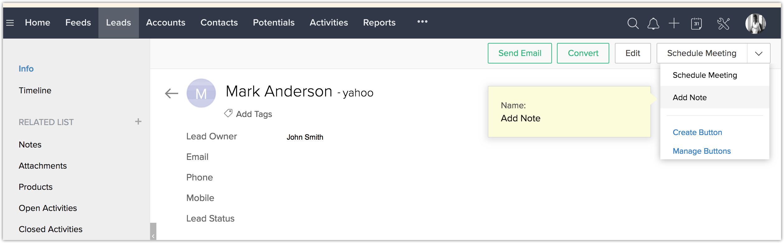 OneNote Extension | Online Help - Zoho CRM