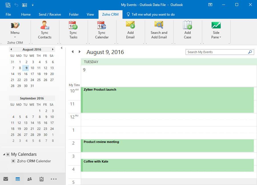 Calendar Integration for CRM | Zoho CRM