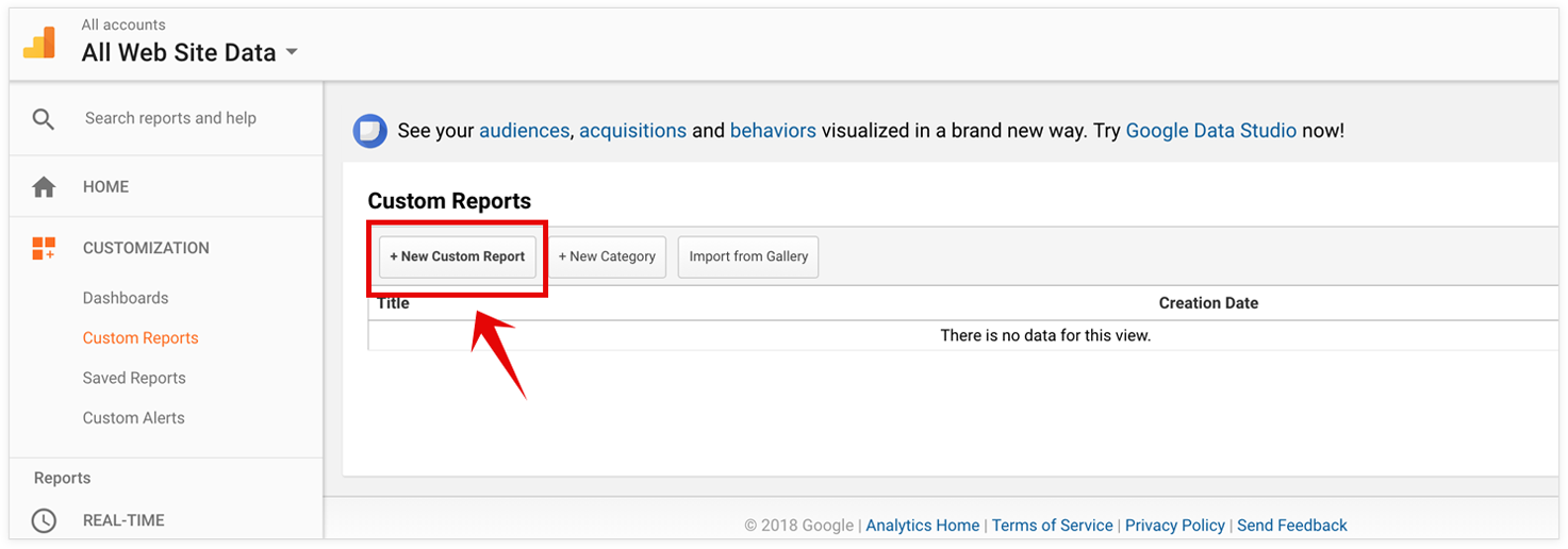 PageSense Integration with Google Analytics- Create Custom Report