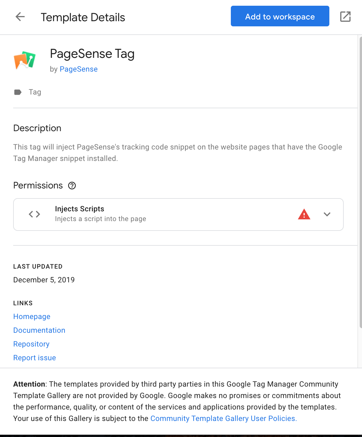 Zoho PageSense tag in Google Tag Manager (GTM)