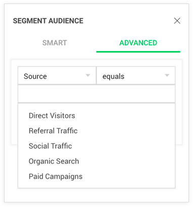 Advanced report segmentation based on source in Zoho PageSense