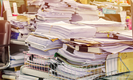 Save space. Go paperless.