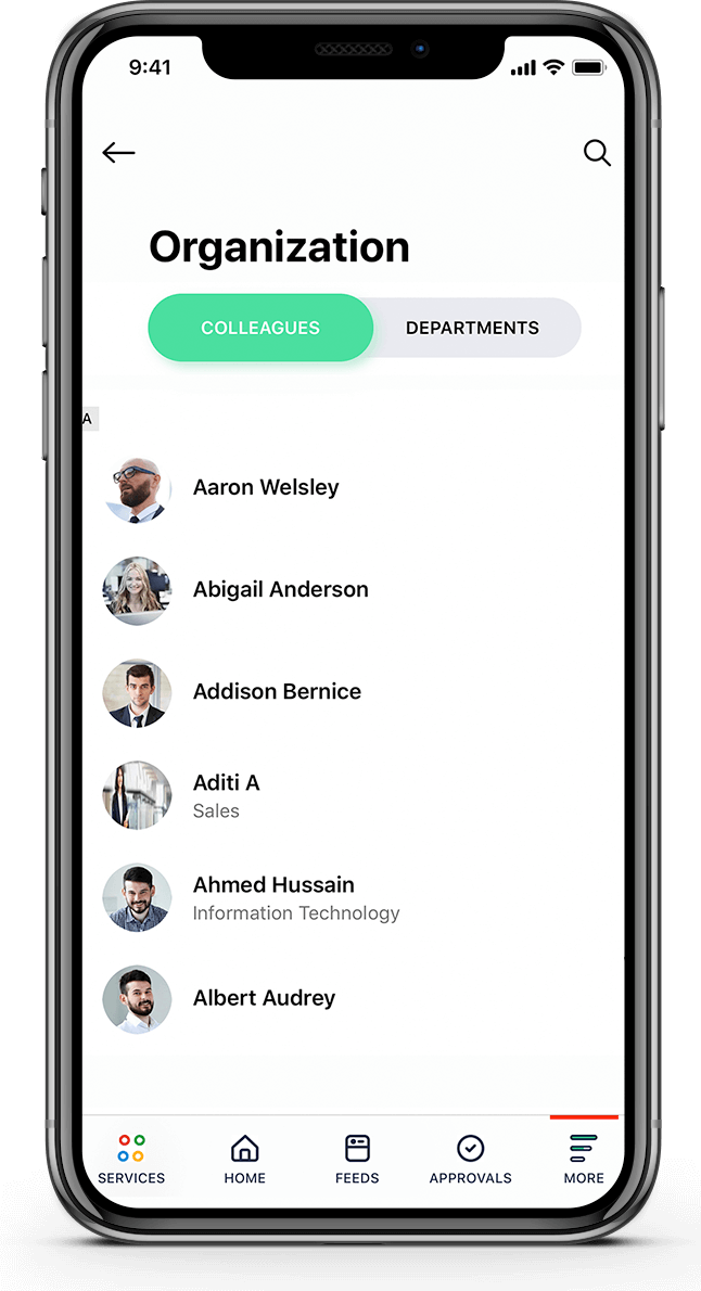 People mobile section