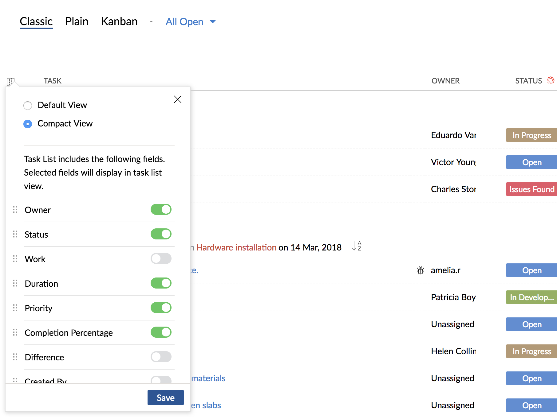 All The Tasks task management   zoho projects