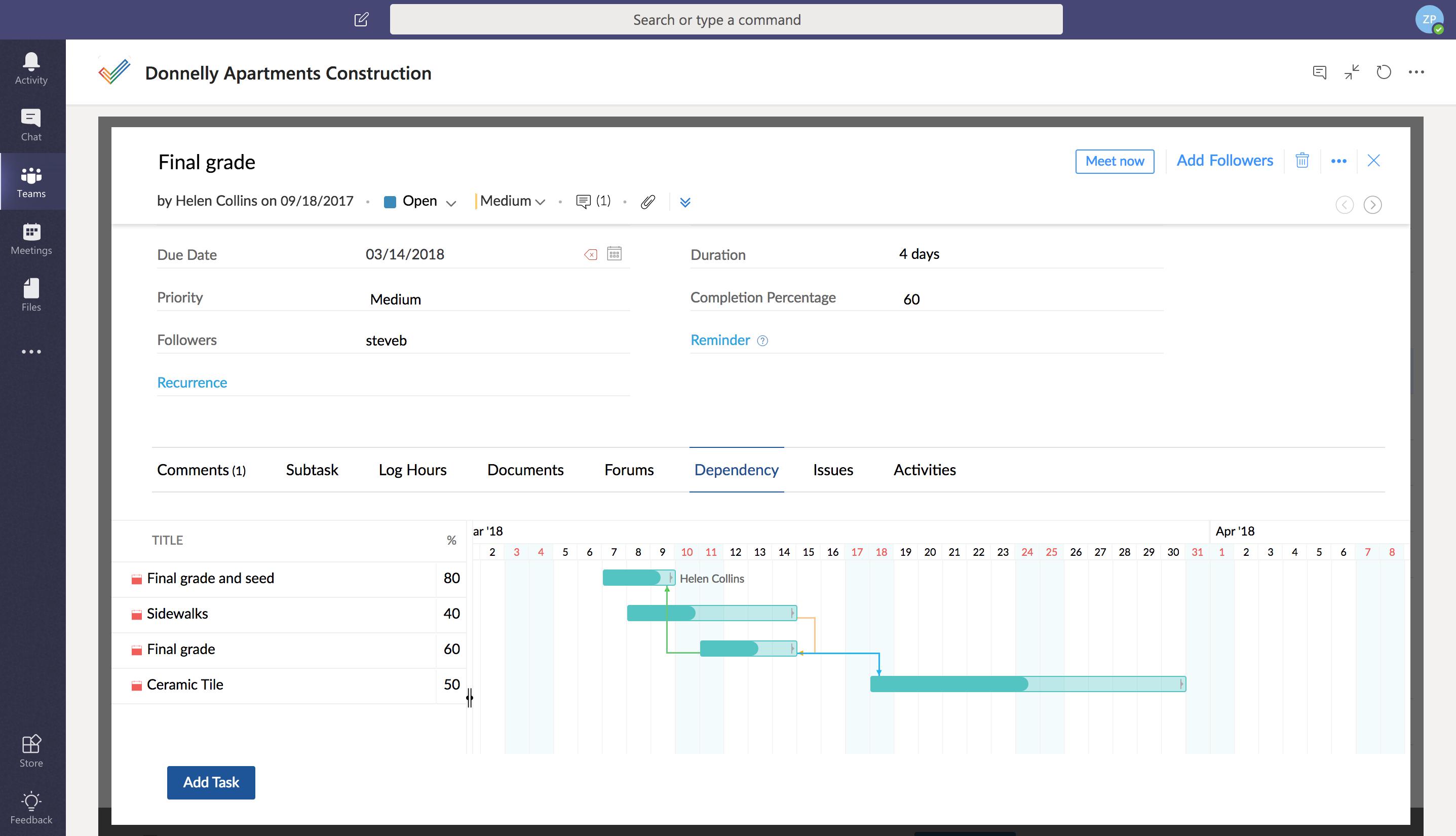 Microsoft Teams Integration   Zoho Projects