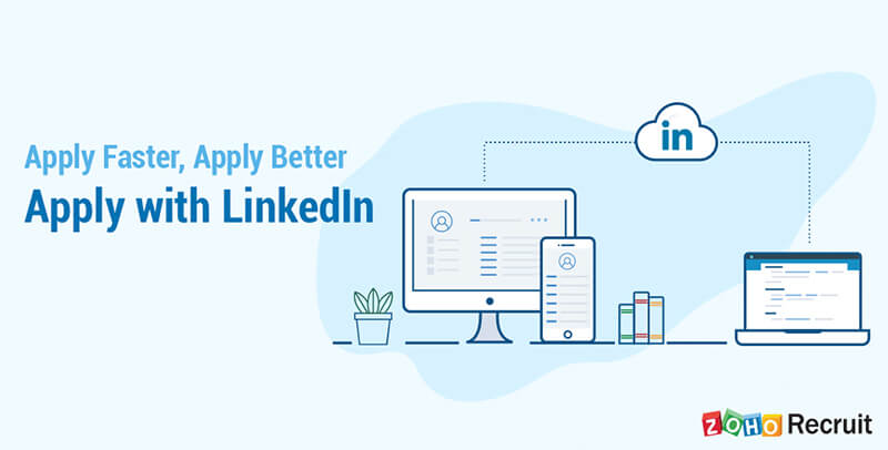 Online Recruiting Management Software - Apply with Linkedin - Zoho Recruit
