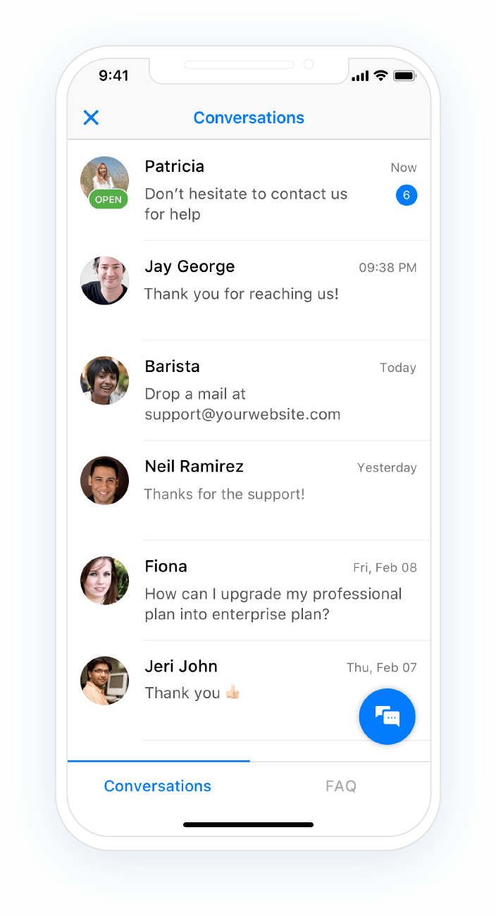 customer service mobile chat