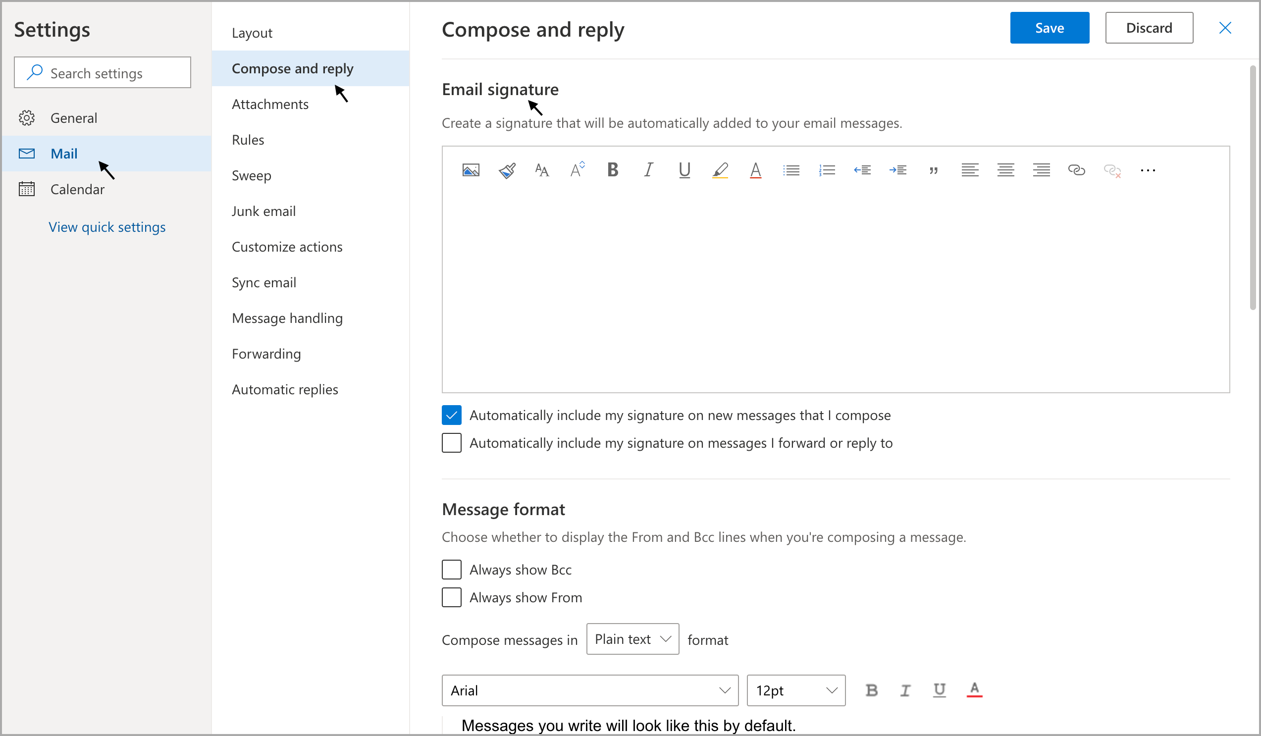 Adding Signature Chat to Microsoft Outlook