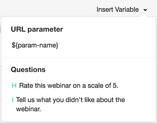 Piping Questions & Answers using URL parameter