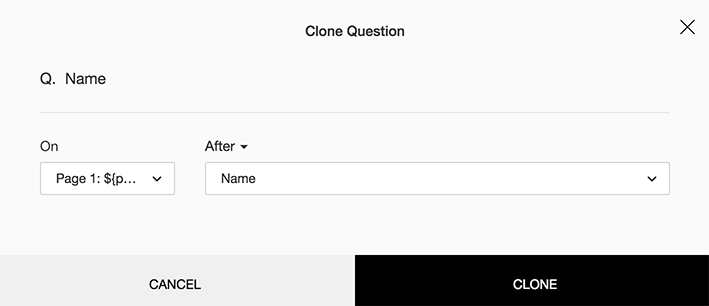 Clone survey question