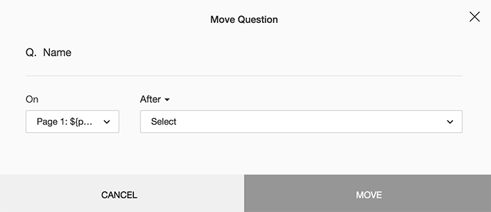 Move survey question