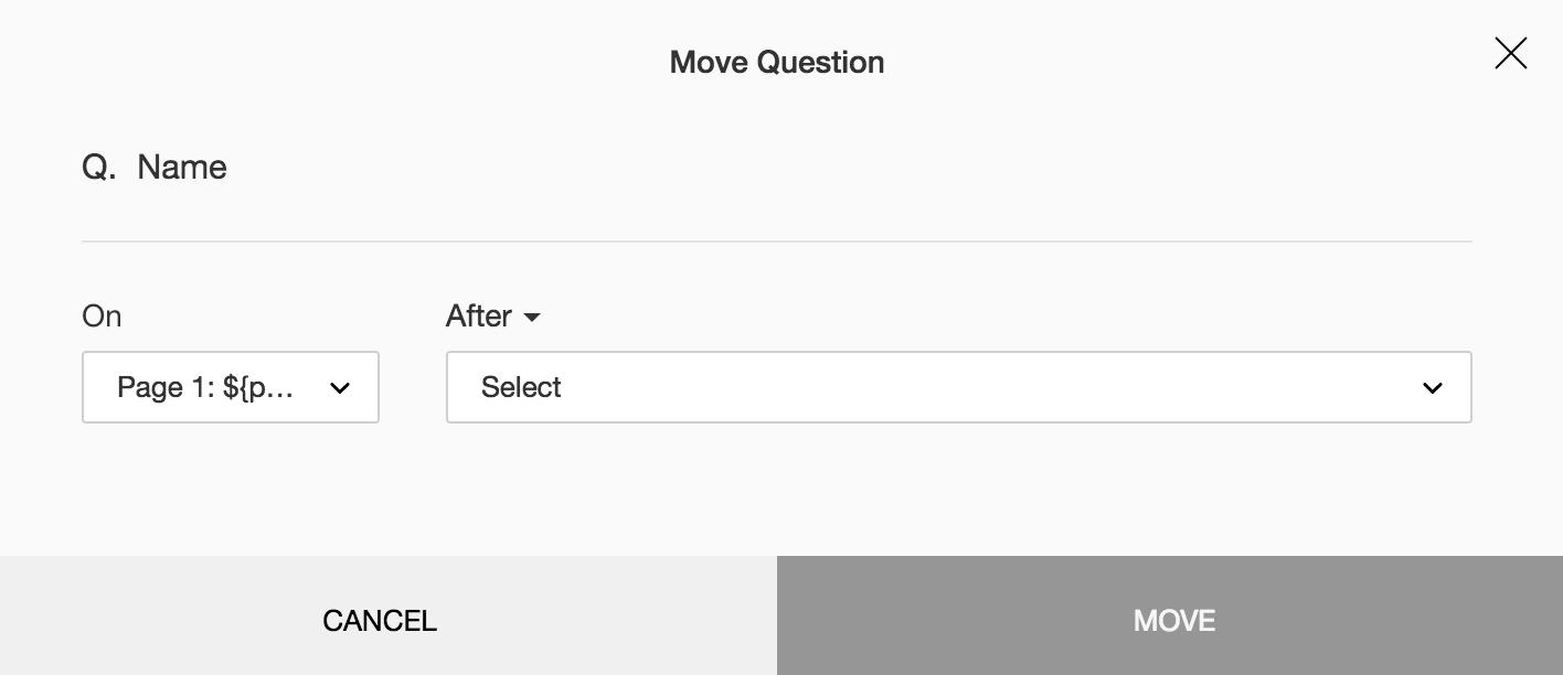 Move survey question