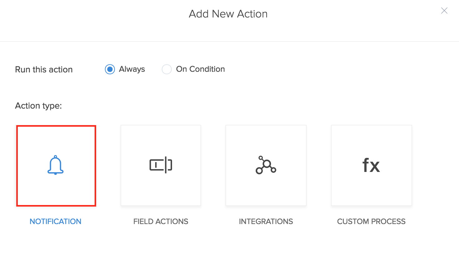Send mobile notification on a form action   zoho