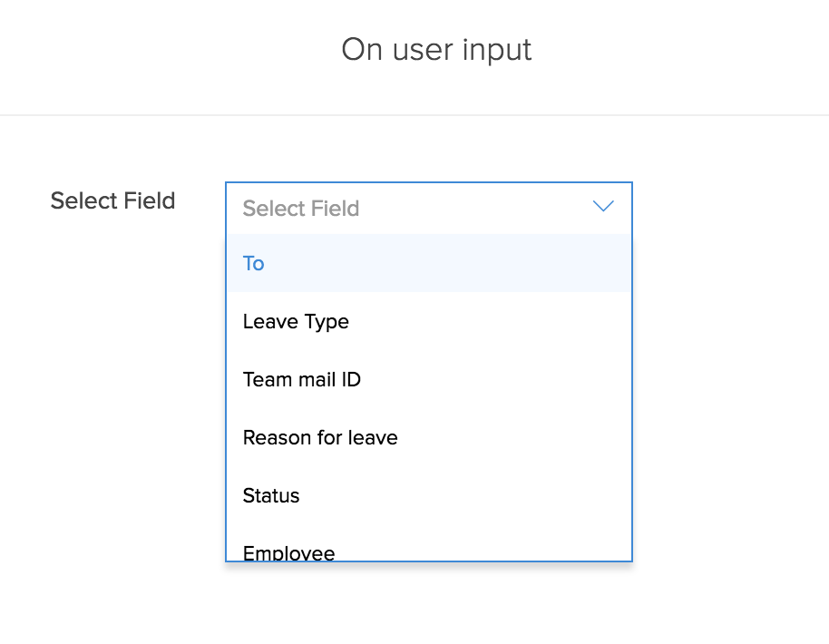 Configure Deluge Script on User Input in Form Workflows