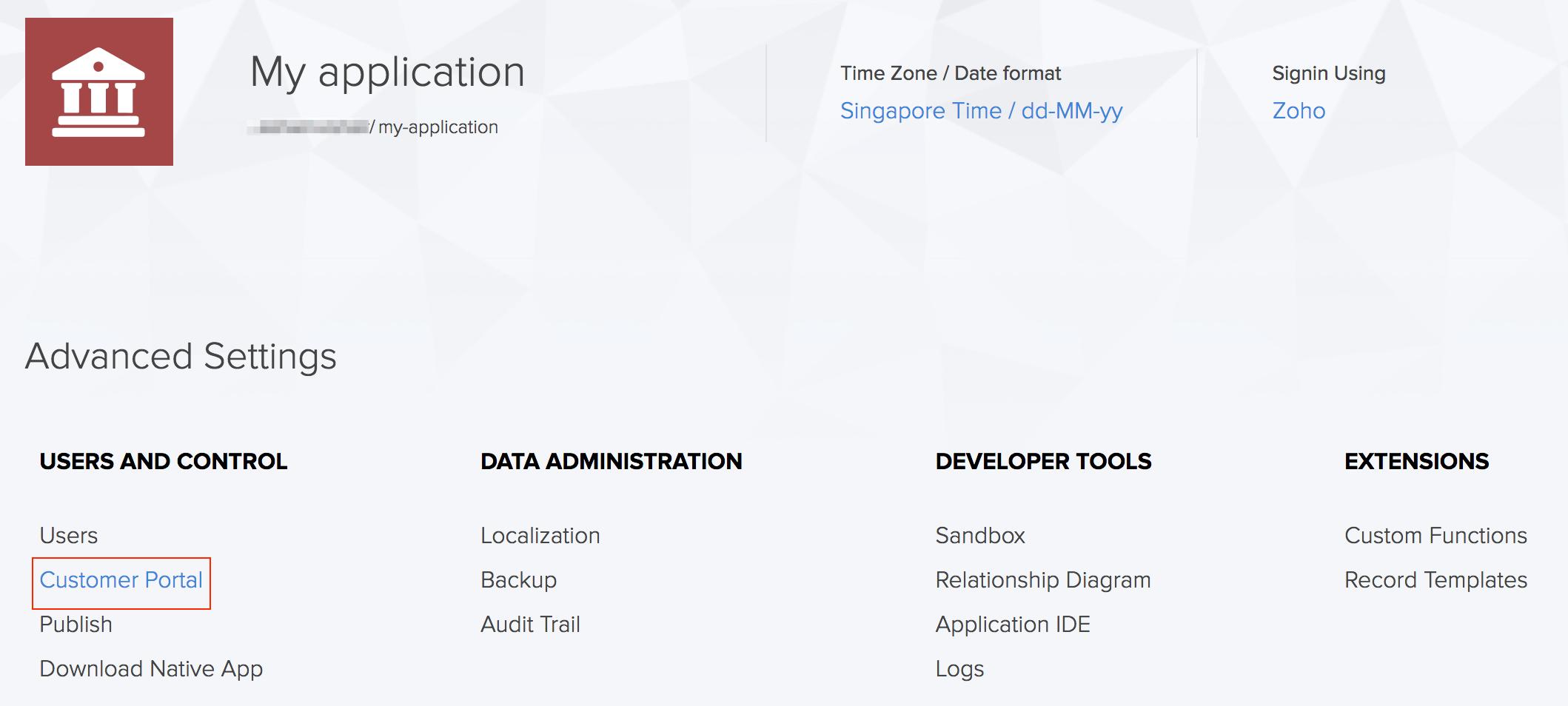 Customize Invitation Template In Customer Portal Zoho Creator Help