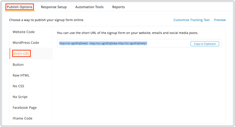 Publishing Signup Forms - Online Help | Zoho Campaigns