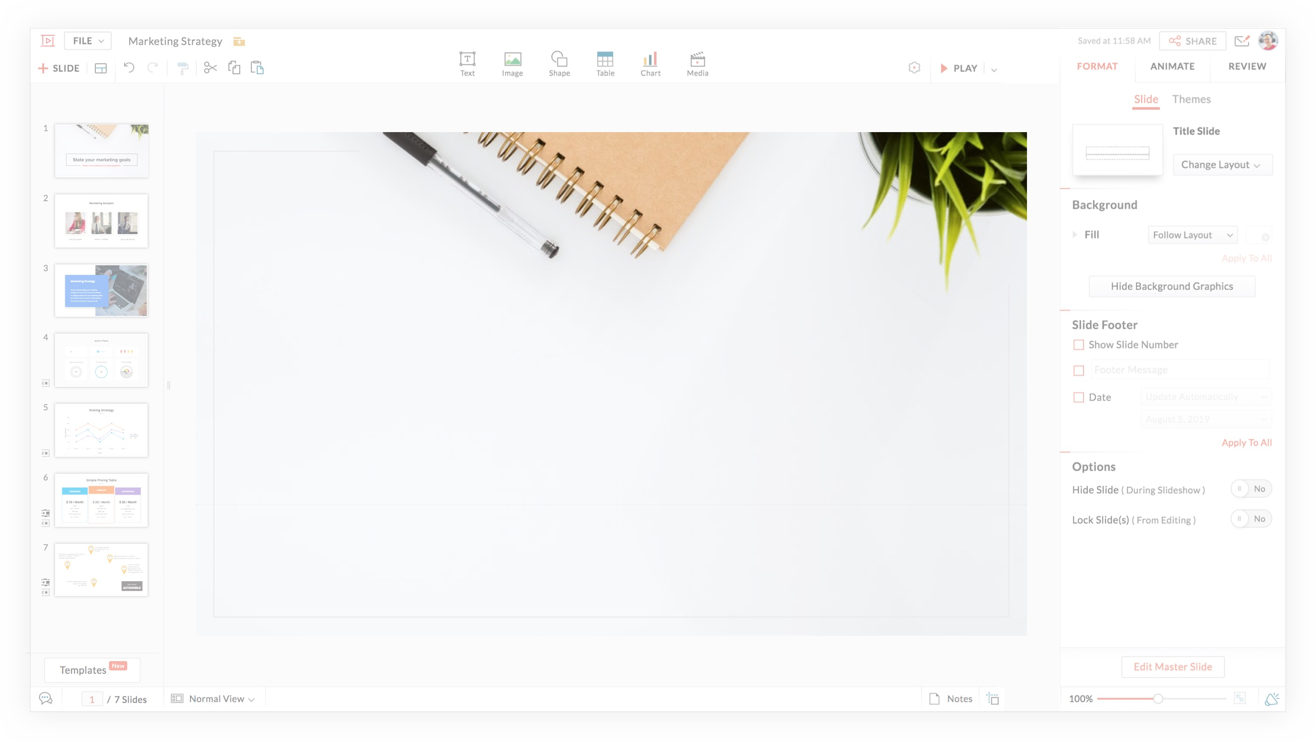 Free Powerpoint Maker Import Edit Ppt Online Zoho Show