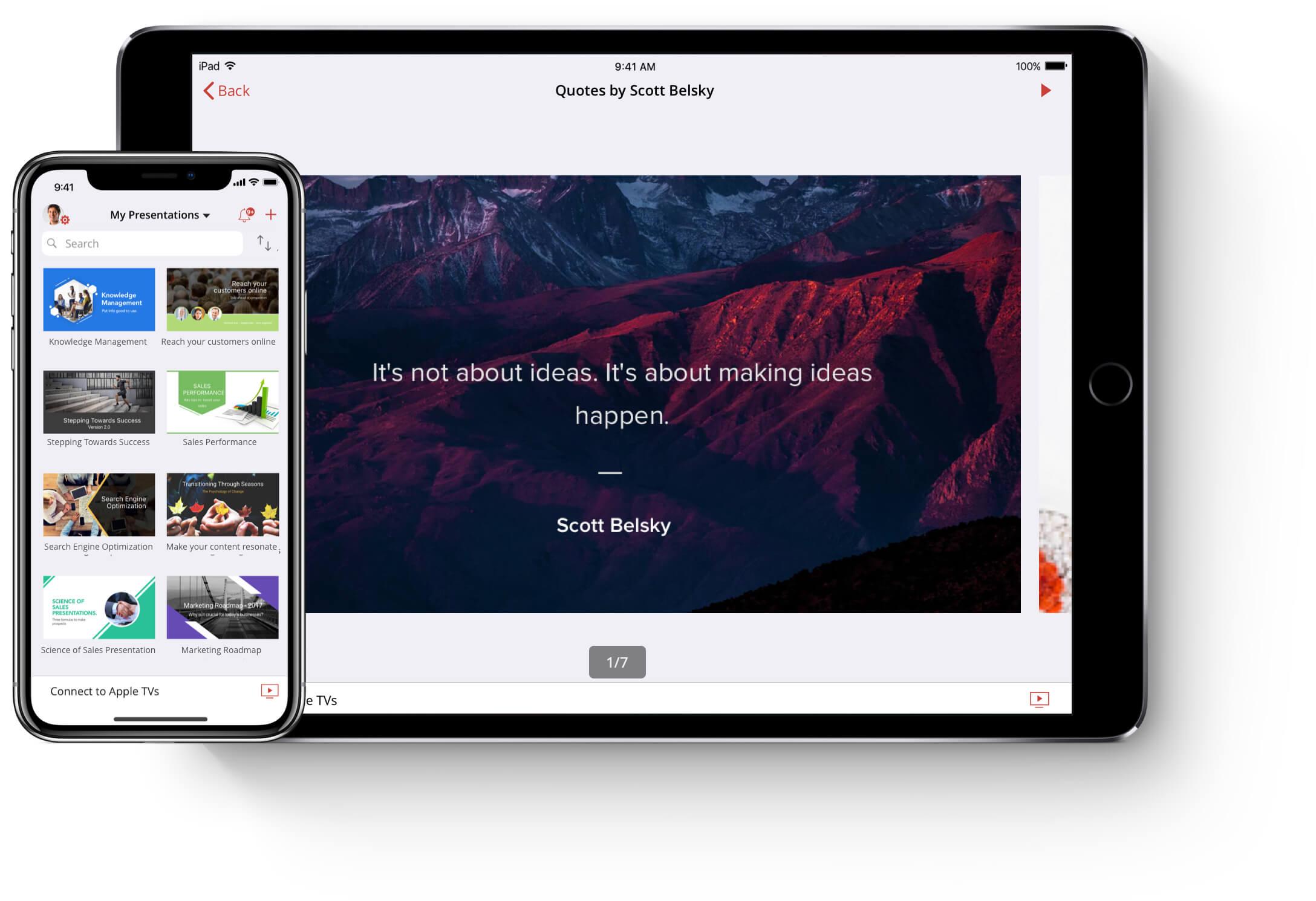 Presentatie App Voor Ios Bekijk En Importeer Dias Show App