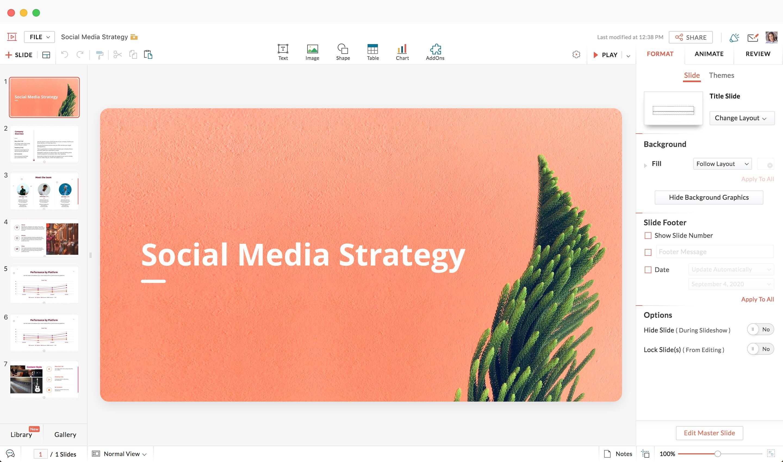 professional presentation editor websites au