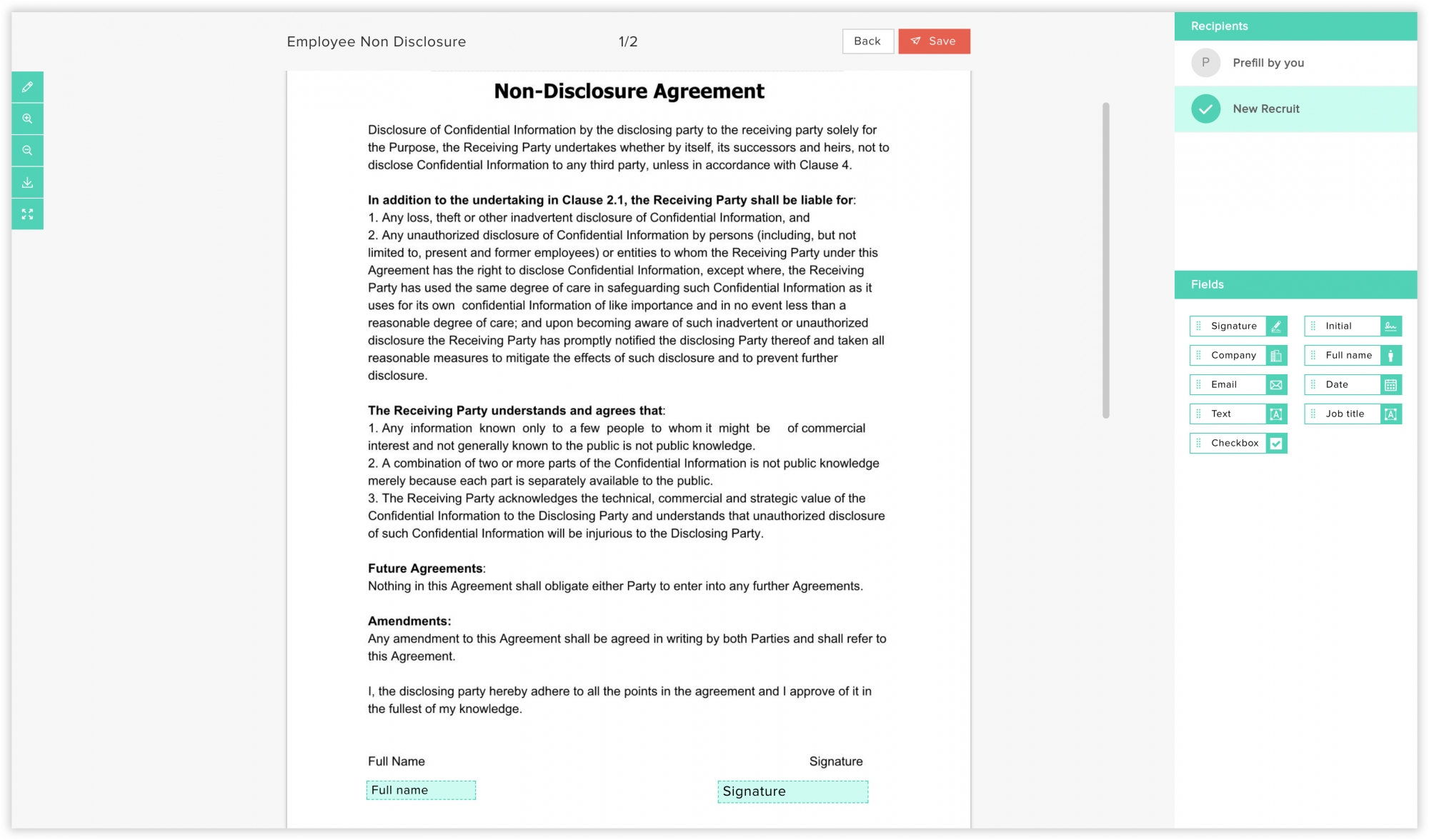 Templates Create Use And Edit Templates Using Zoho Sign