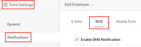 Send SMS notifications from your application | Help - Zoho