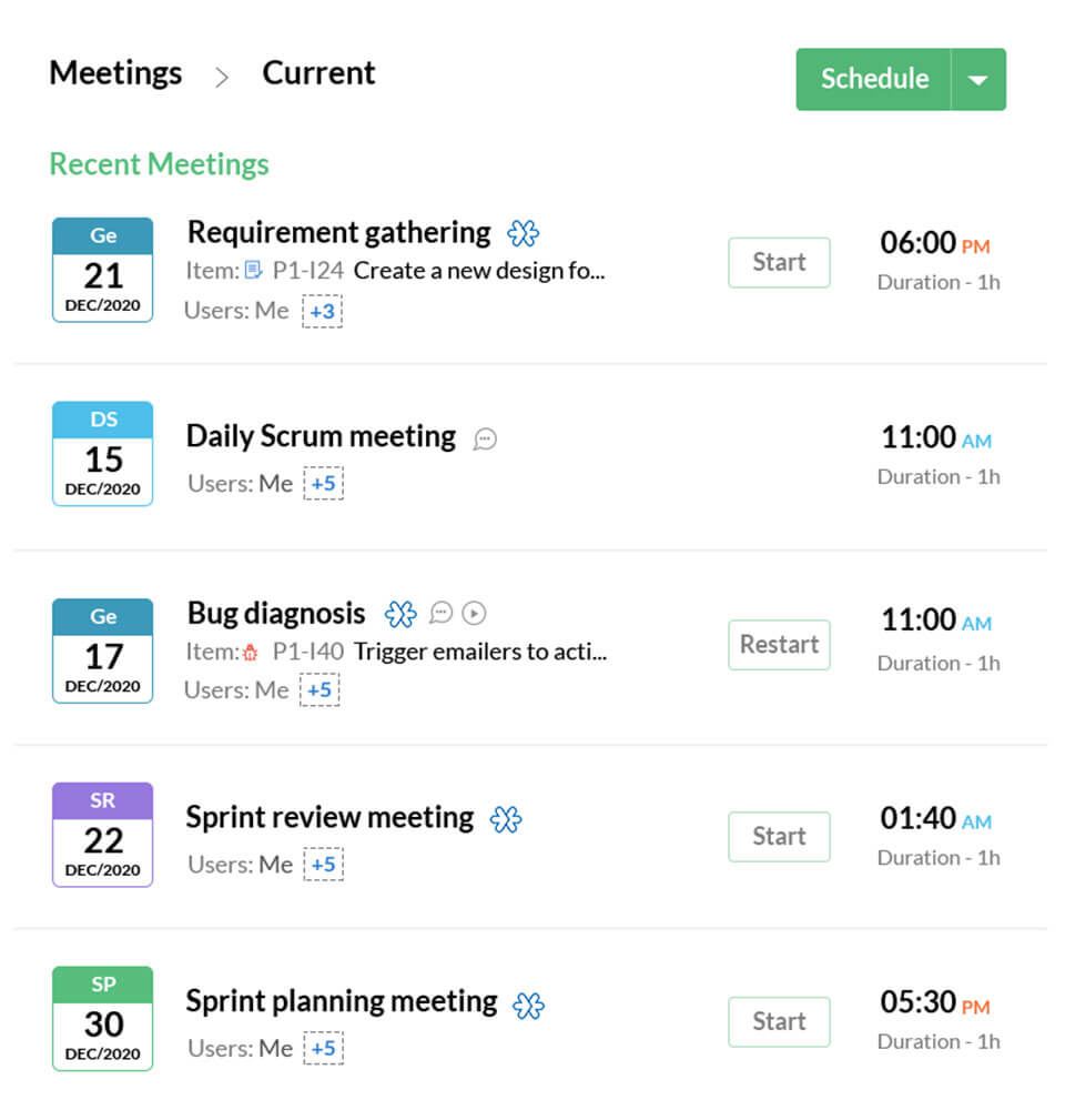 Organize your Scrum meetings