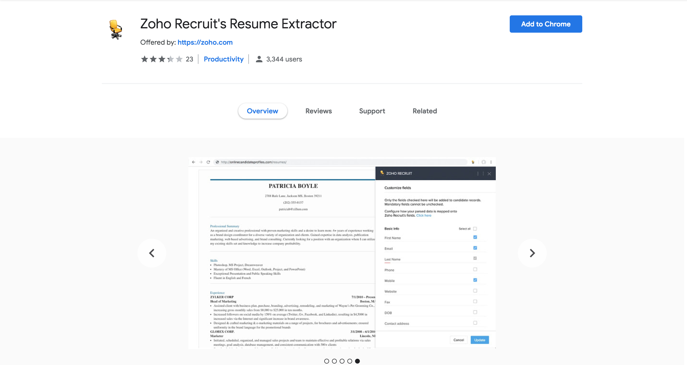 download and install resume extractor