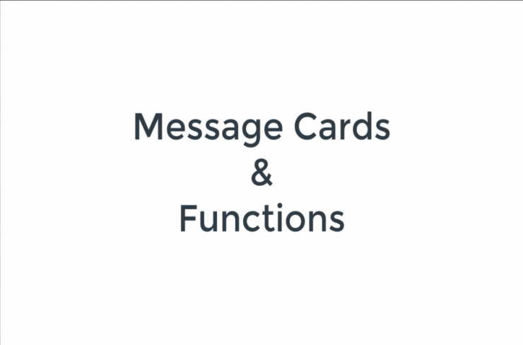 message cards and functions