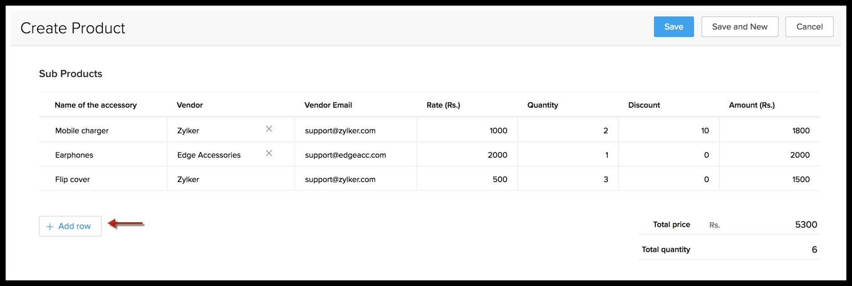 Subforms | Online Help - Zoho CRM