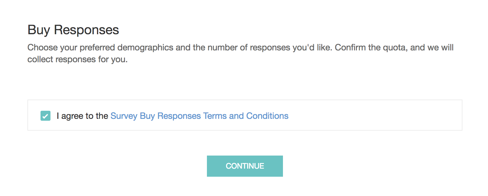 Survey Buy Responses Terms and Conditions