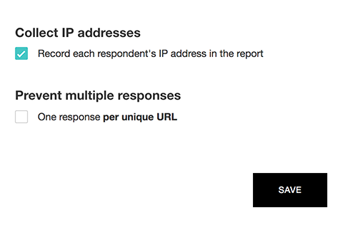 Record IP address in in-mail survey