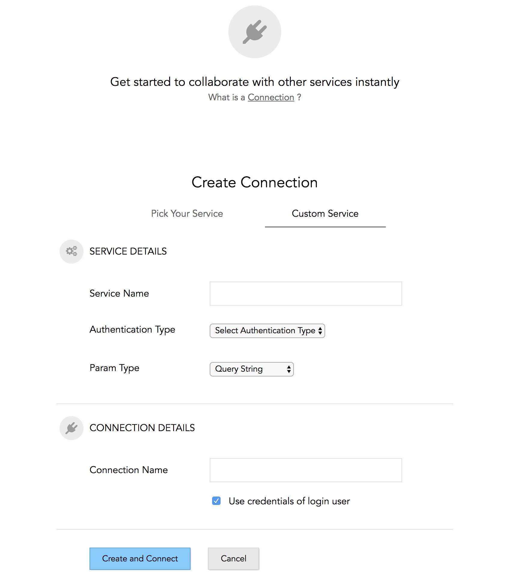 Select a custom service