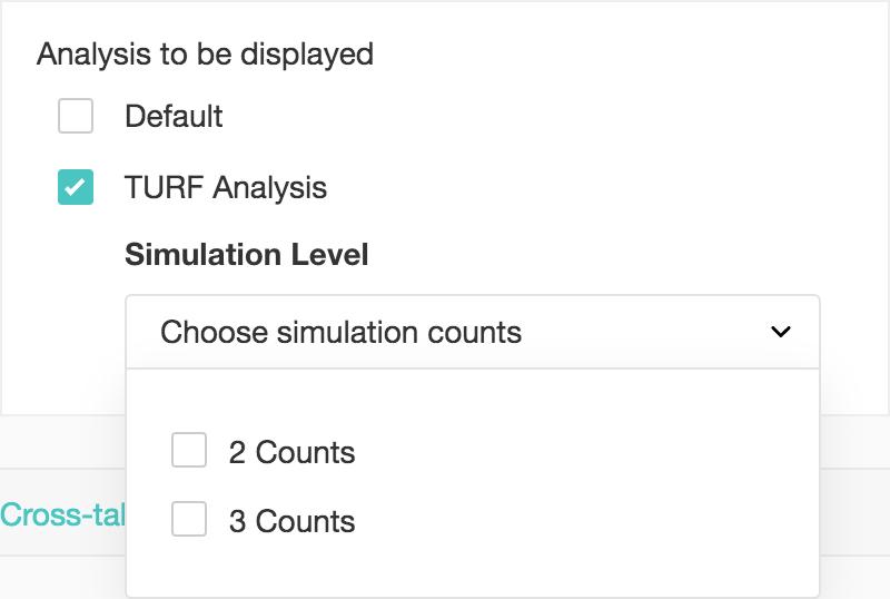Custom report TURF analysis