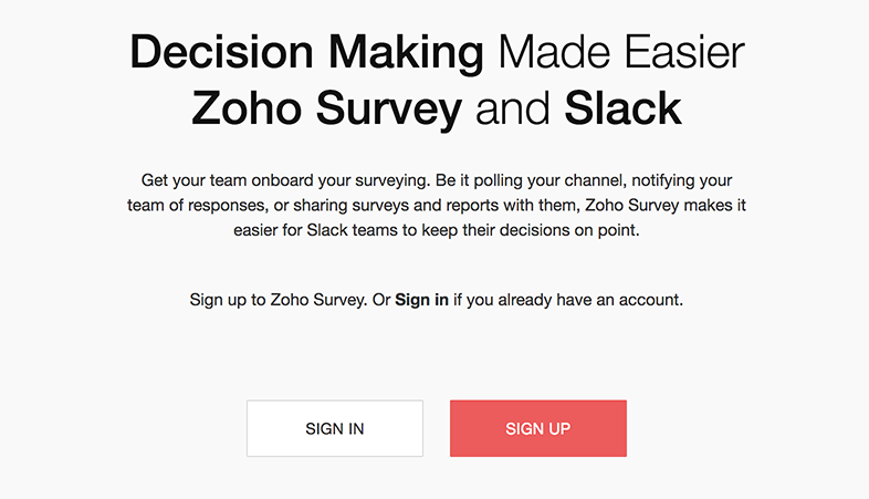 How to integrate Zoho Survey and Slack?