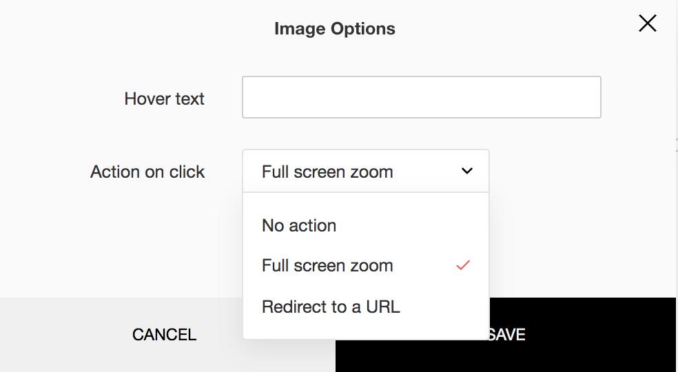 image options