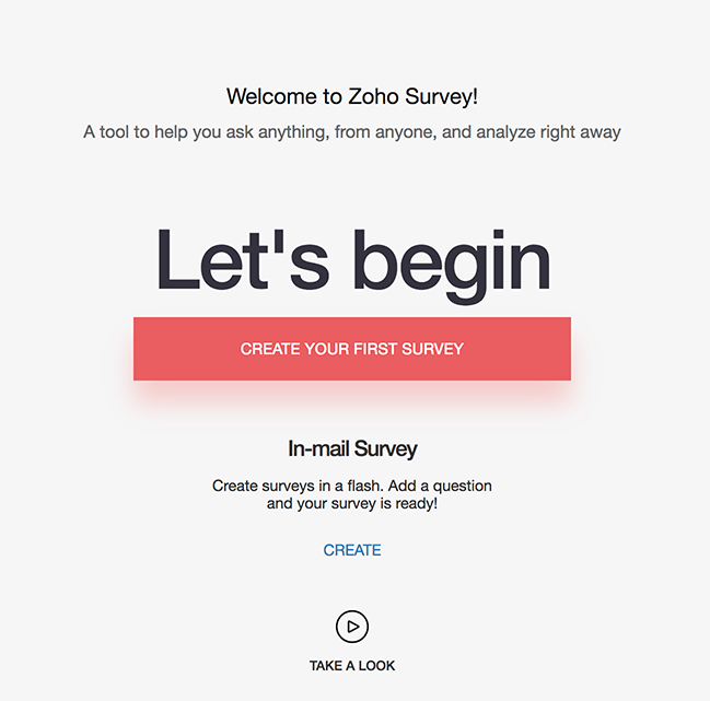 In-mail survey for new users