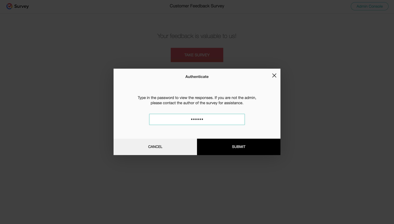 Offline survey authenticate