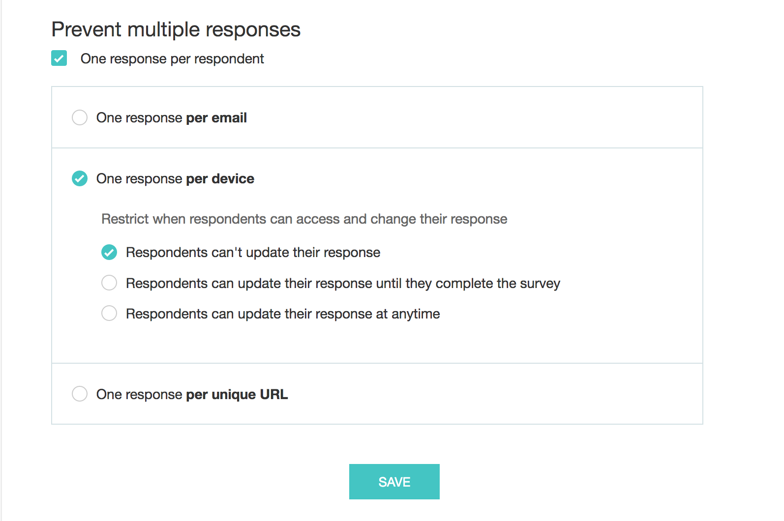 Prevent multiple responses for your survey