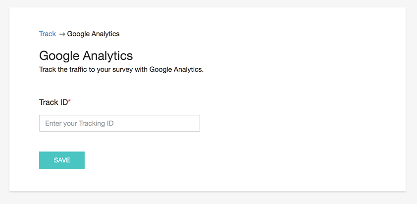 track with google analytics