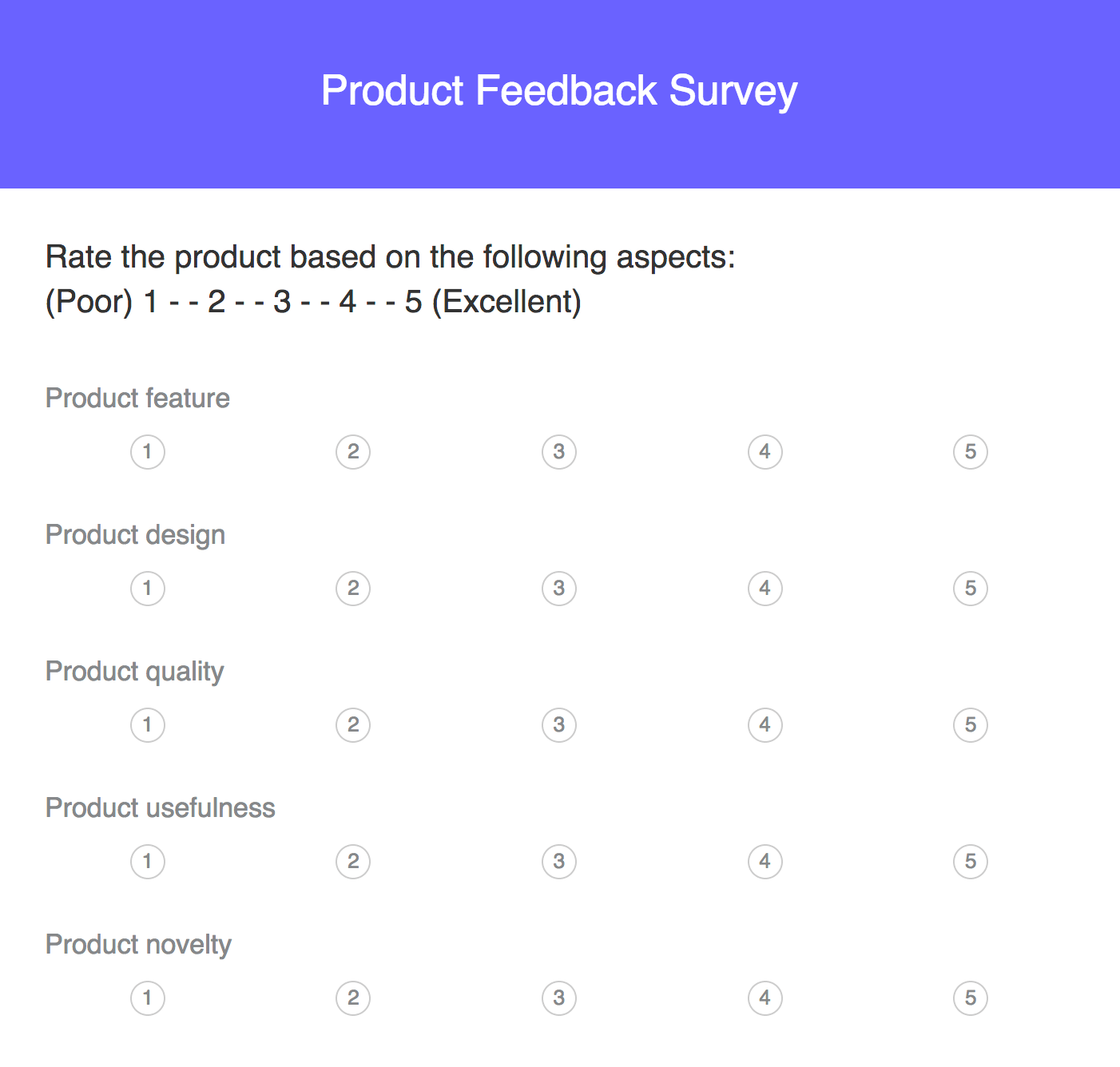 Product Feedback Survey - Experty-made Questions and Template