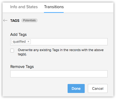 Tagging CRM Records | Online Help - Zoho CRM
