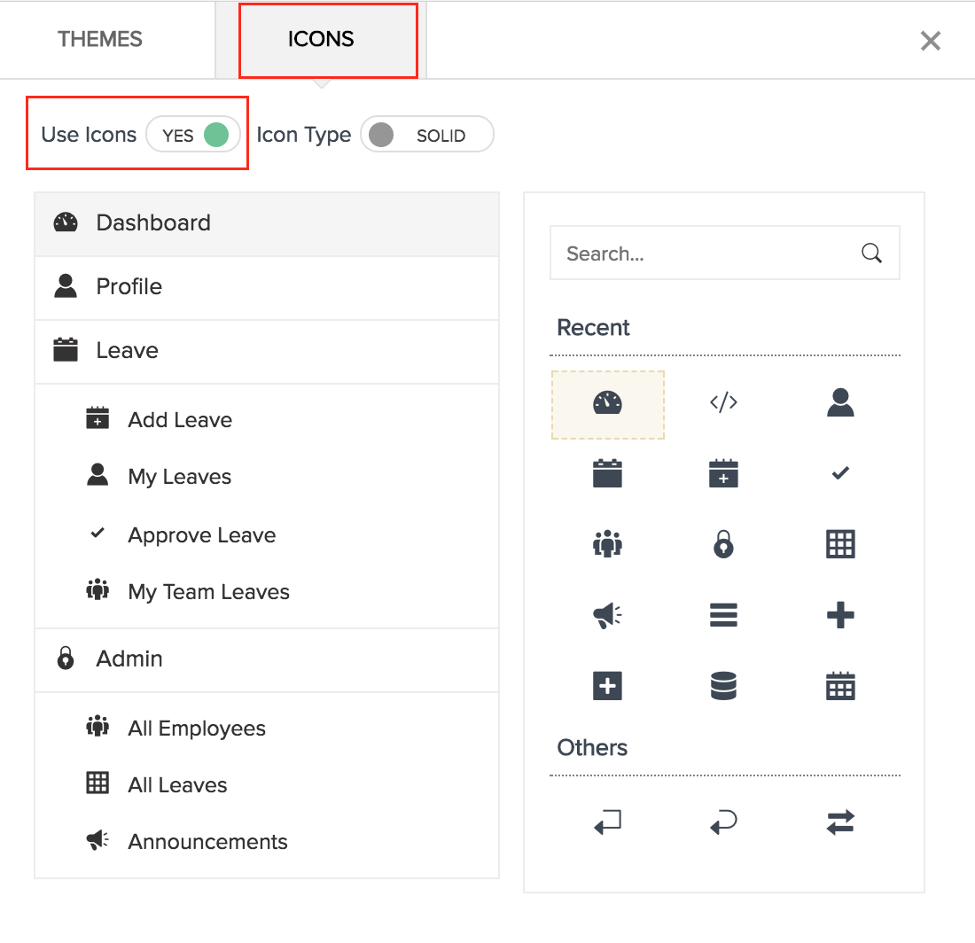Customize Themes and Icons| Help - Zoho Creator