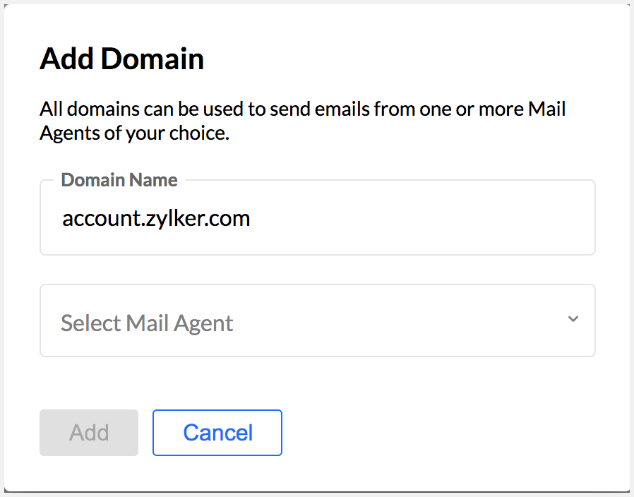 Add your Domain in transactional email system