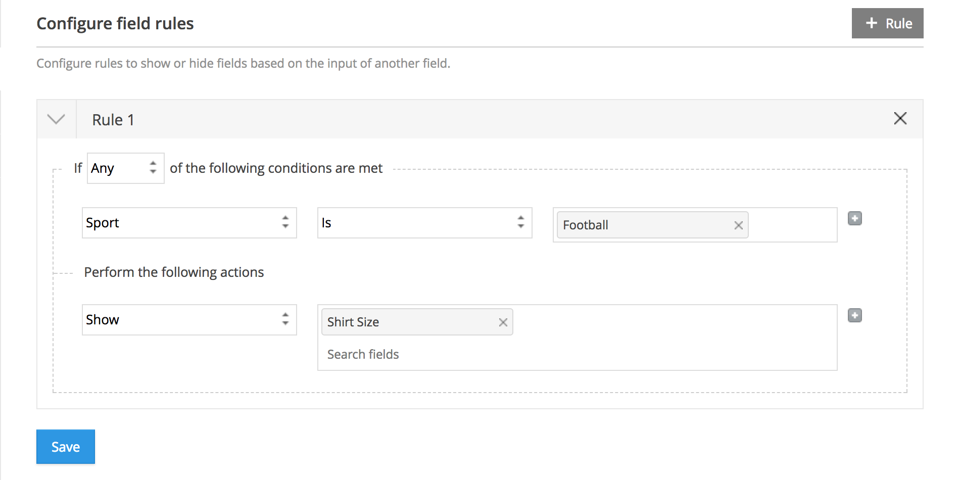 Conditional Rules | Zoho Forms - User Guide
