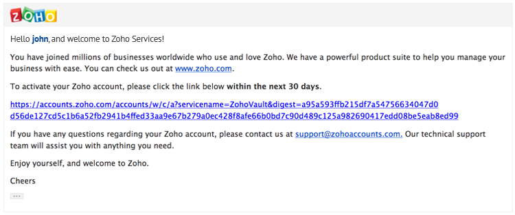 Sign in to Zoho Vault